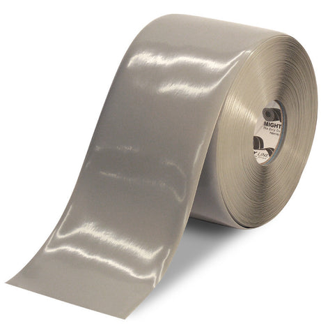 6 Inch Gray 5S Floor Tape -Mighty Line - 100 Foot Roll