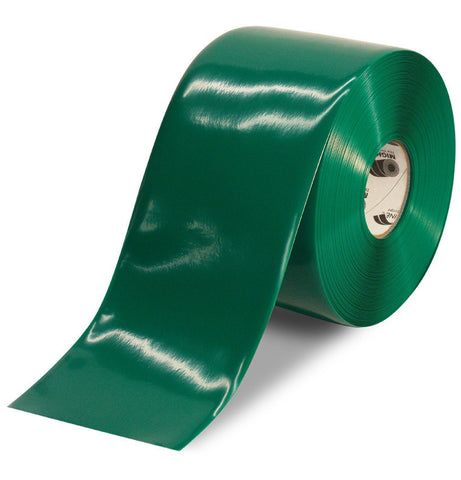 6 Inch Green 5S Floor Tape - Mighty Line - 100 Foot Roll
