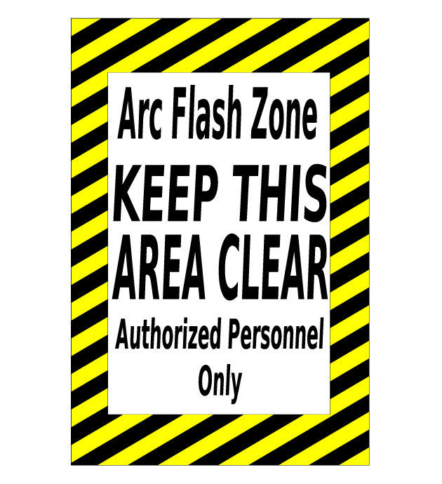 Mighty Line ARC Flash Zone Caution Sign - 1 Sign