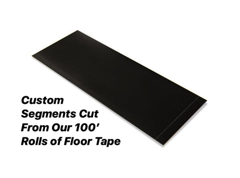 "Custom Cut Segments - 6"" BLACK Solid Color Tape - 100'  Roll"