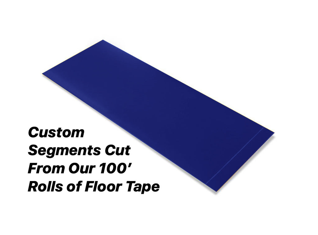 "Custom Cut Segments - 4"" BLUE Solid Color Tape - 100'  Roll"