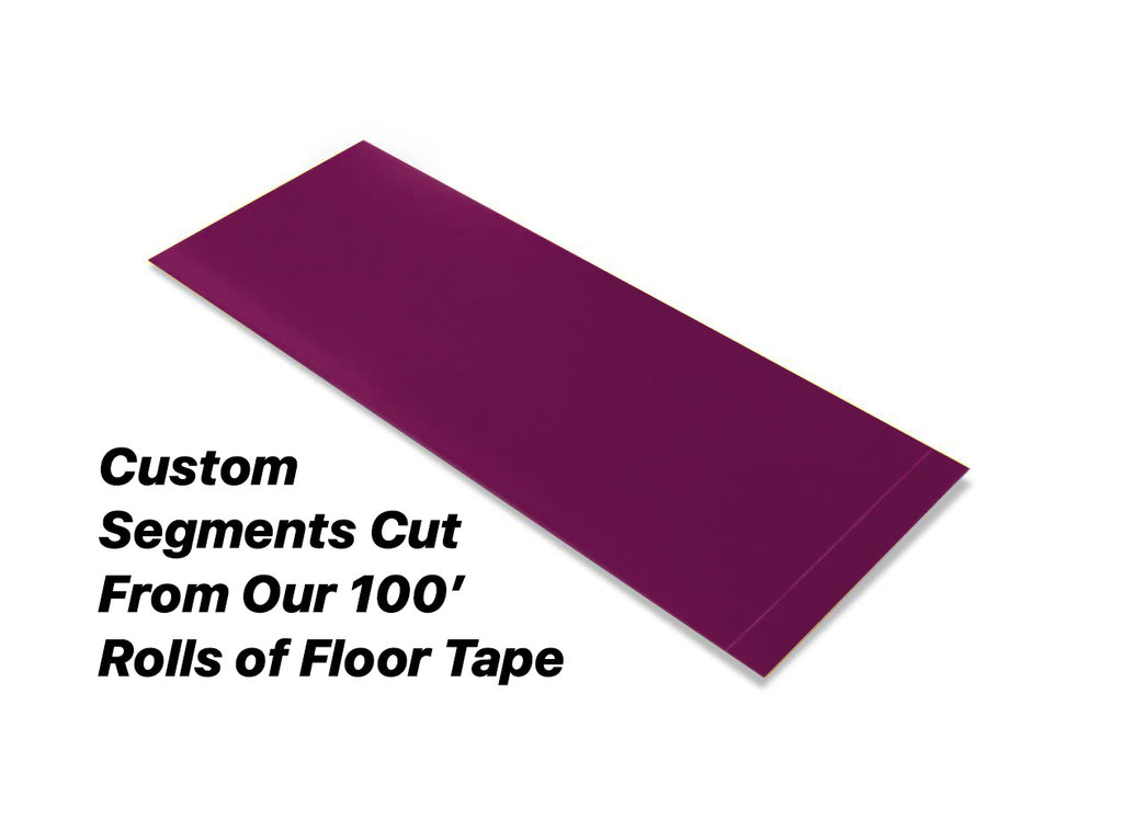 "Custom Cut Segments - 2"" PURPLE Solid Color Tape - 100'  Roll"