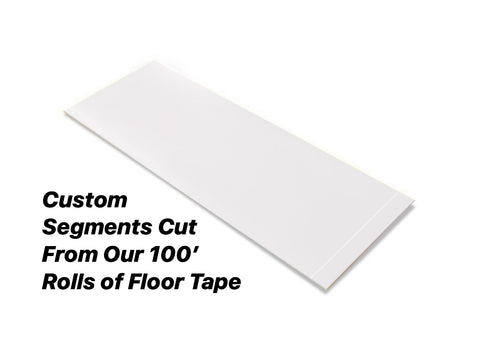 "Custom Cut Segments - 2"" WHITE Solid Color Tape - 100'  Roll"