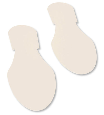 Solid Colored WHITE Footprint - Pack of 50