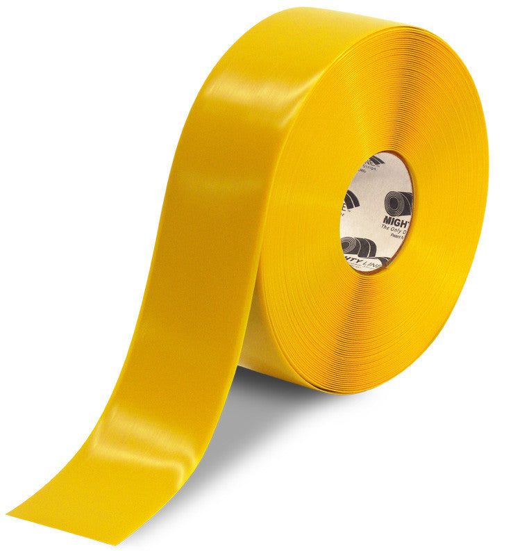 3 Inch Yellow 5S Floor Tape - MightyLine - 100'  Roll