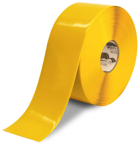 4 Inch Yellow 5S Freezer Floor Tape - Mighty Line - 100 Foot Roll