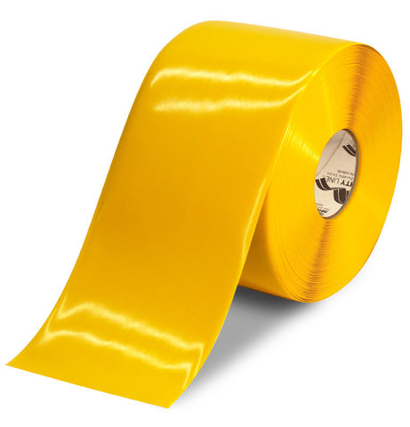 6 Inch Yellow 5S Floor Tape - Mighty Line -100 Foot Roll