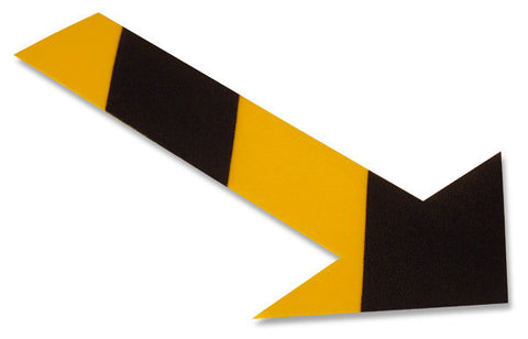 Heavy Duty Mighty Line Yellow Arrow With Black Chevrons - Pack of 50