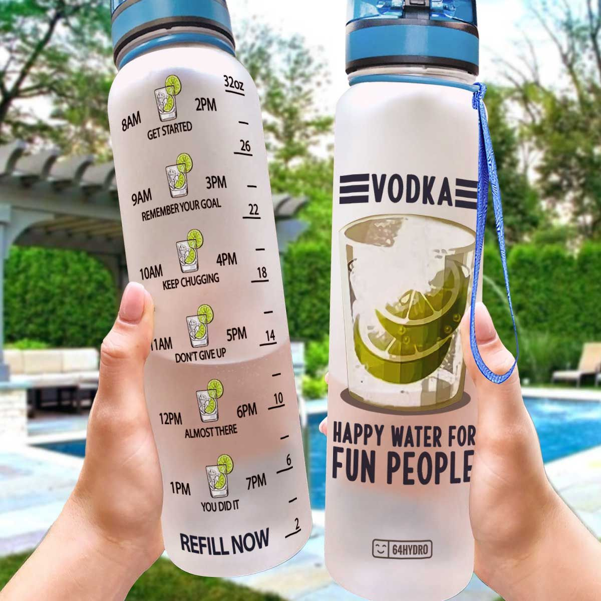 Vodka HLW0608015 Water Tracker Bottle