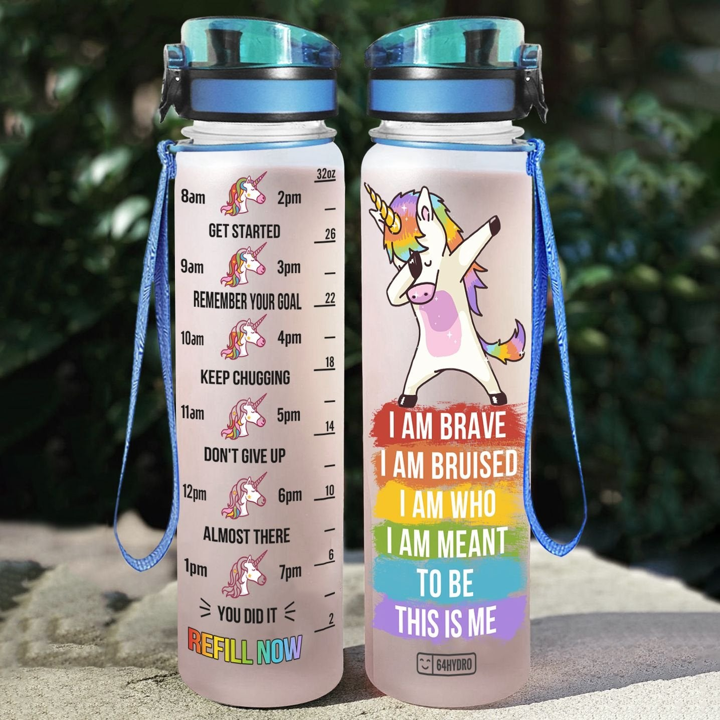 LGBT Unicorn NPT2204002 Water Tracker Bottle