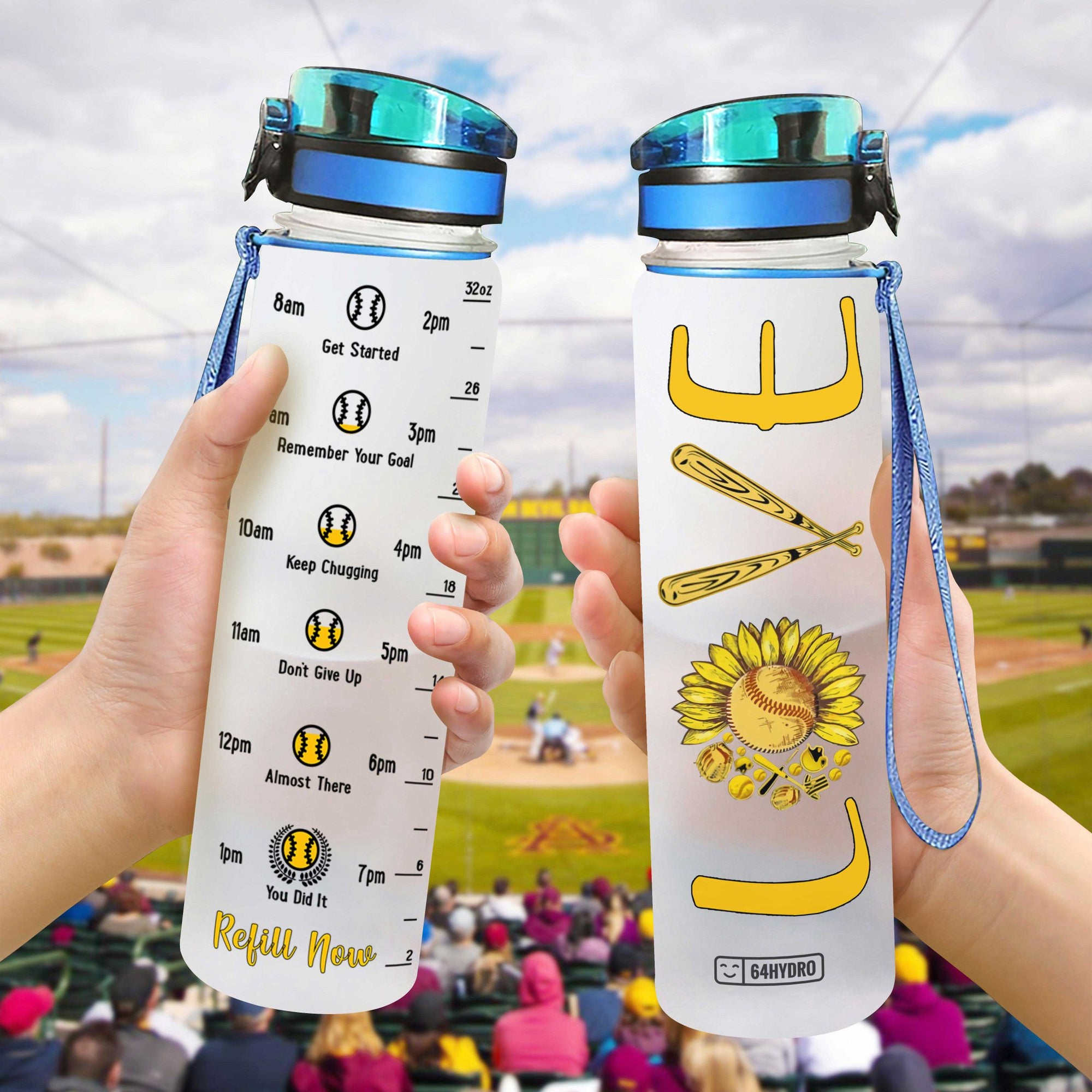 Softball Love HHA0907007 Water Tracker Bottle