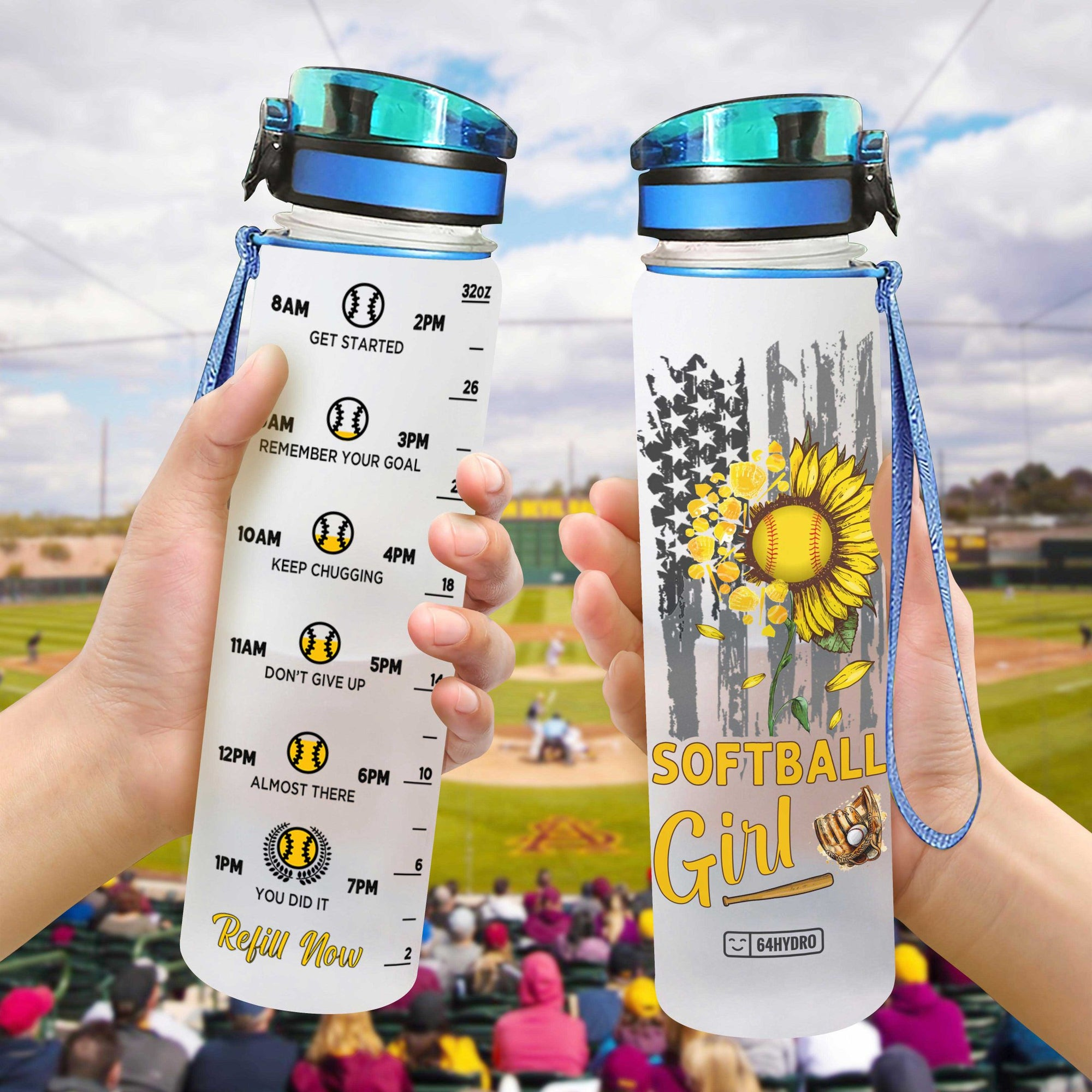Softball Girl HHA0907005 Water Tracker Bottle