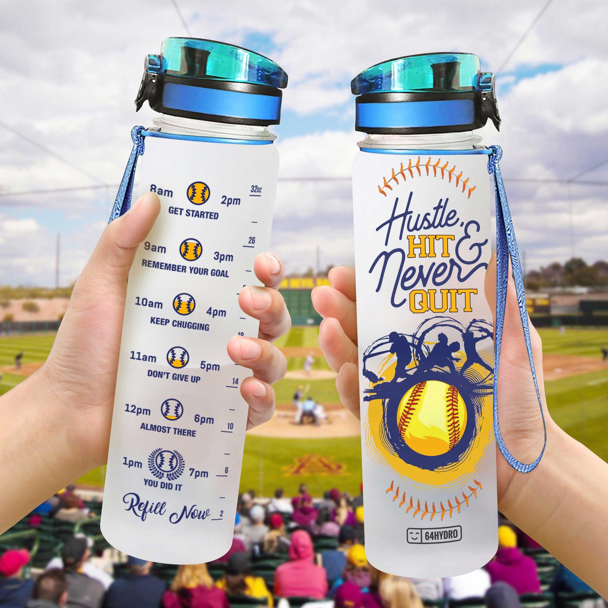 Softball HHW0707014 Water Tracker Bottle