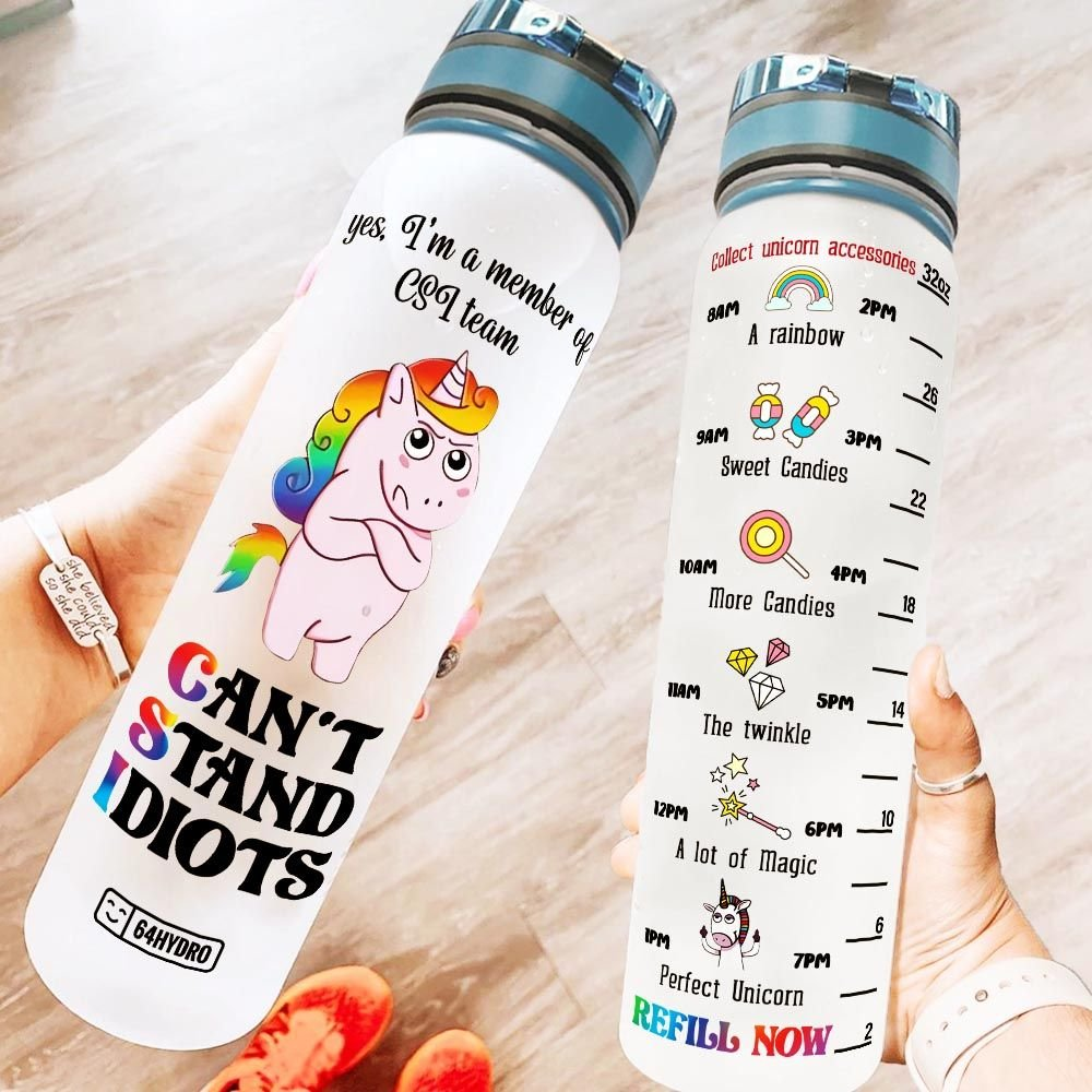 Unicorn CSI team KD2 MAL1708009 Water Tracker Bottle