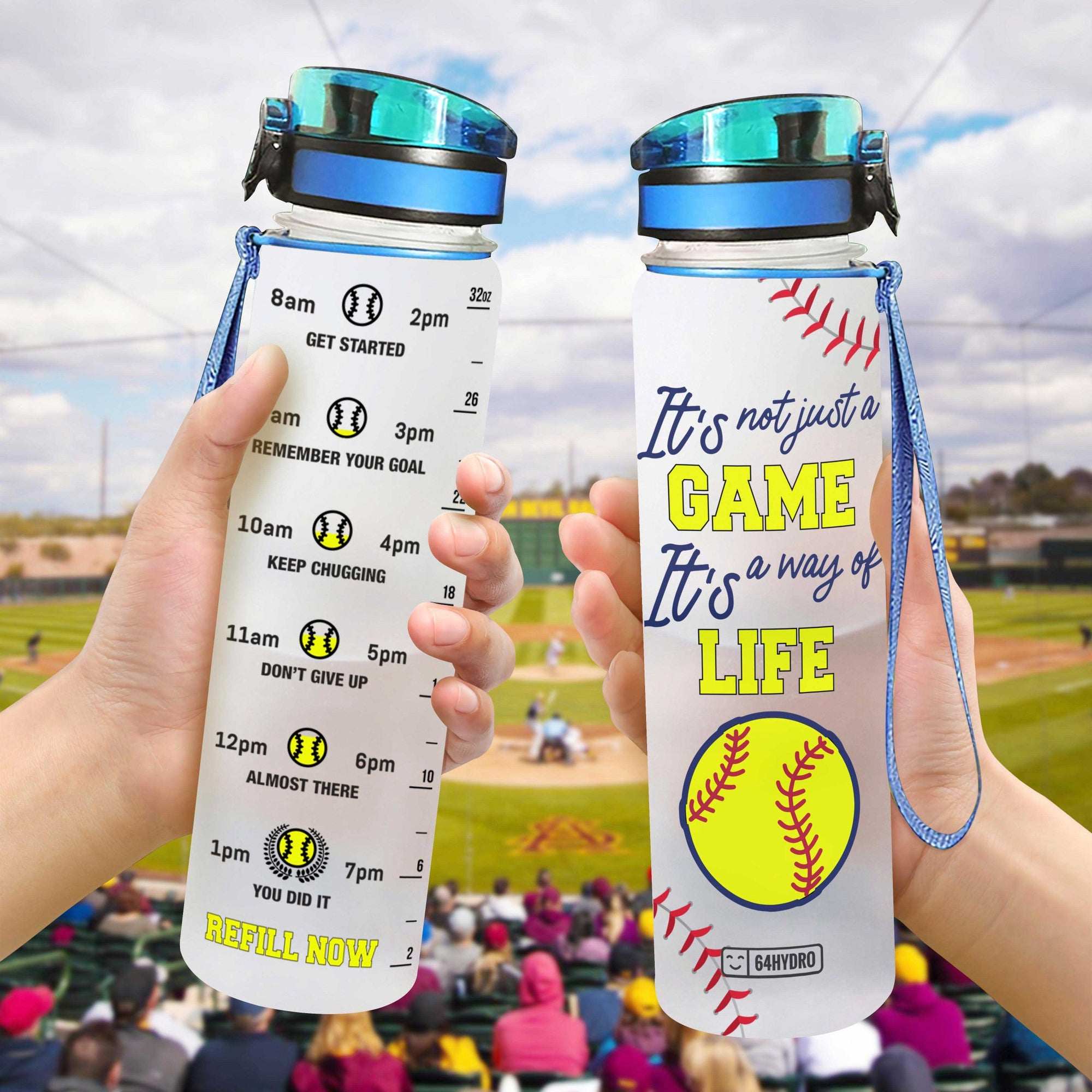 Softball HHA0907004 Water Tracker Bottle