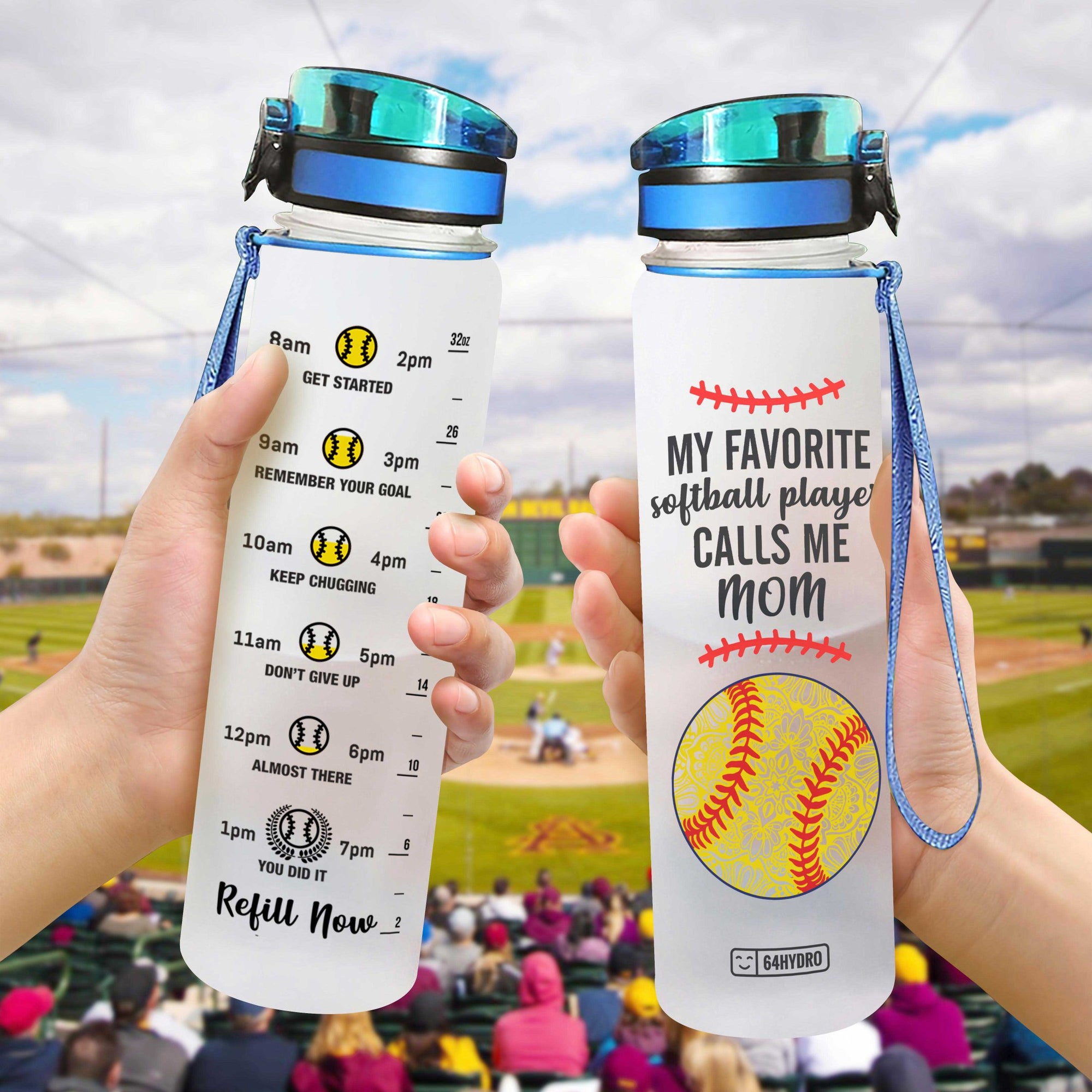 Softball Mom HHA0707015 Water Tracker Bottle