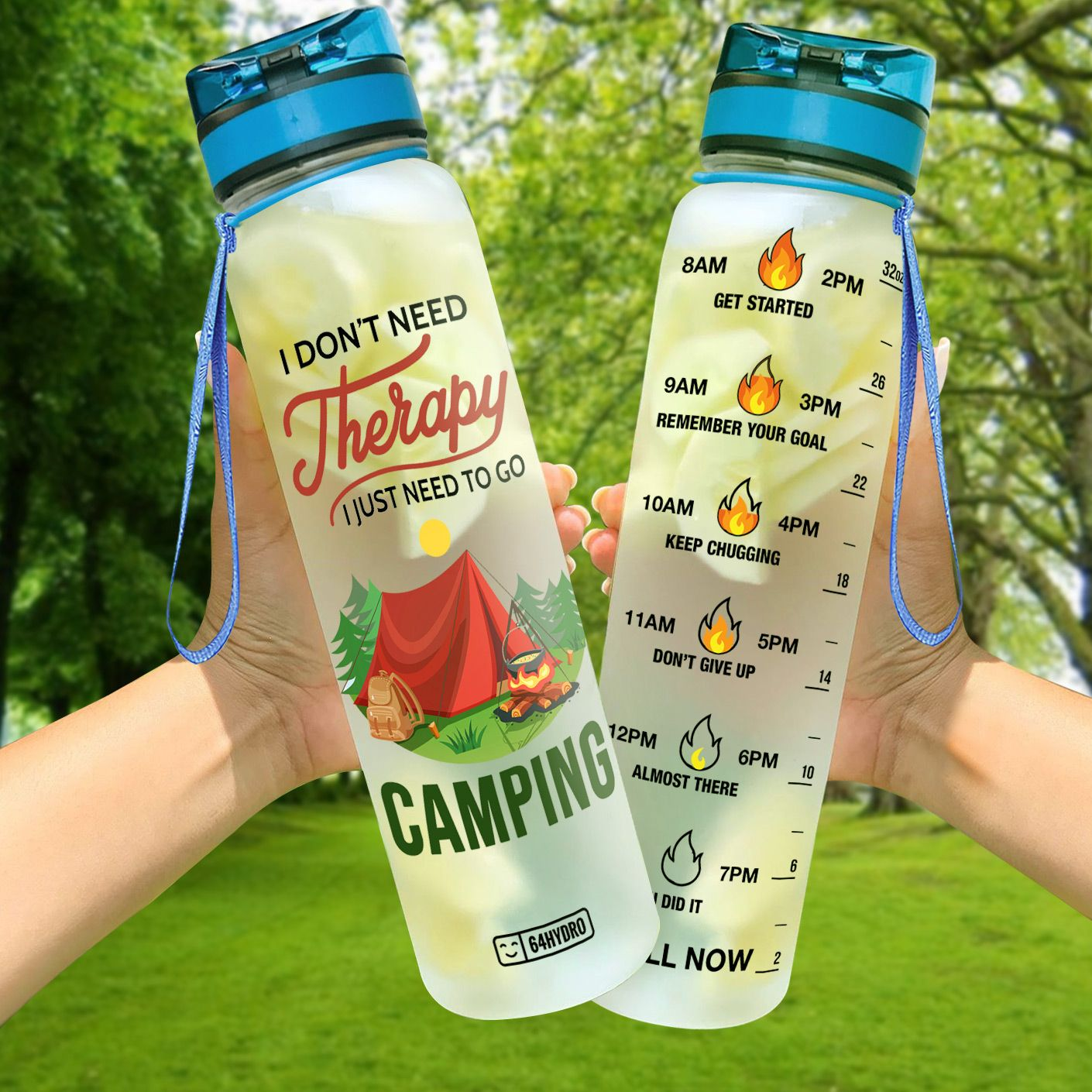 Camping Water Tracker Bottles