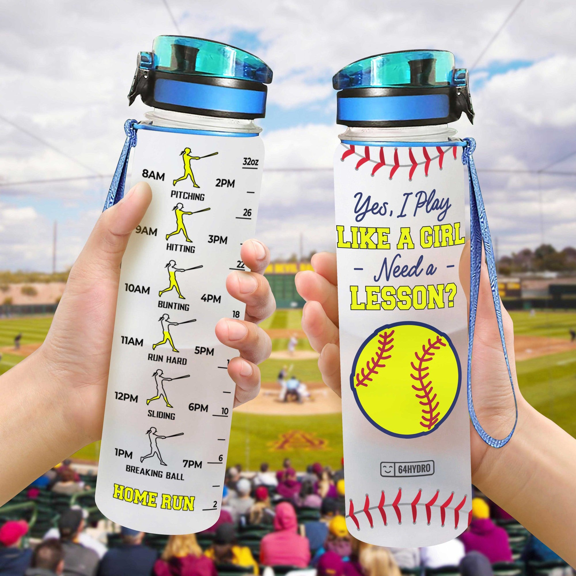 Softball HHA0907006 Water Tracker Bottle