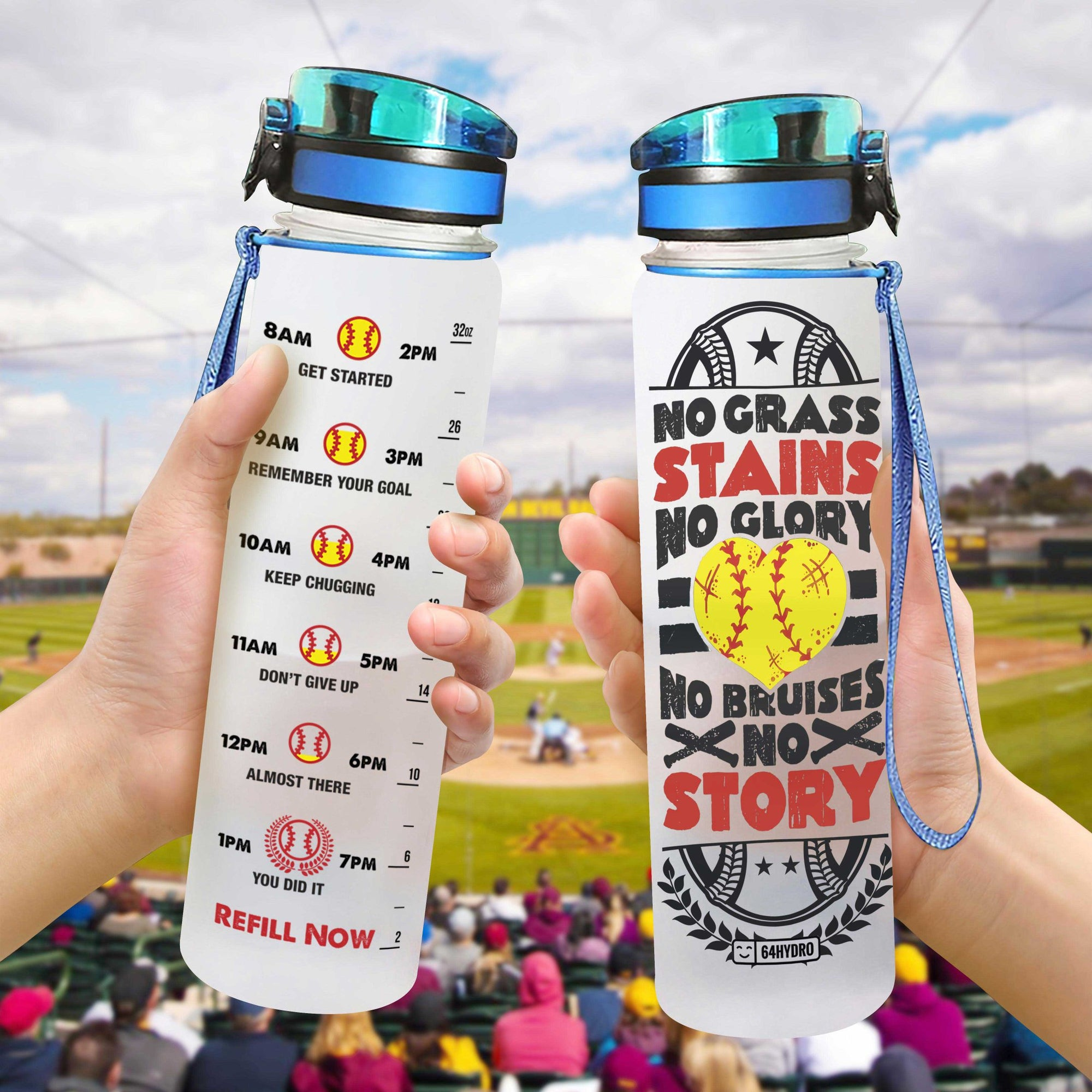 Softball HTQ0807029 Water Tracker Bottle