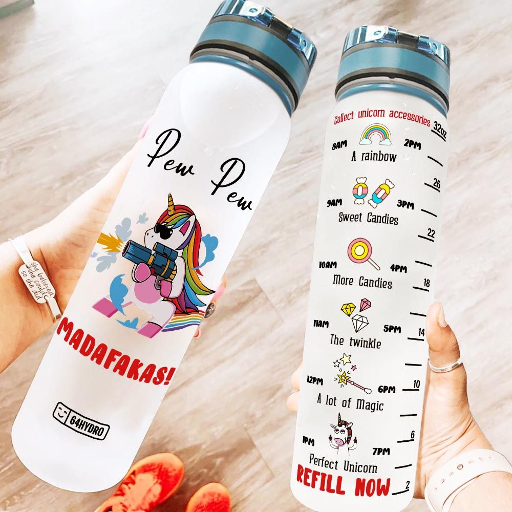 Unicorn Madafakas KD2 MAL1708020 Water Tracker Bottle