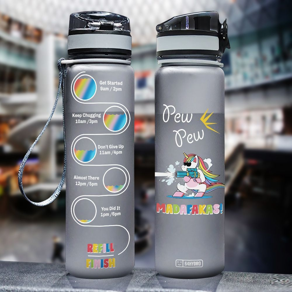 Unicorn HHA2907036 Black Water Tracker Bottle