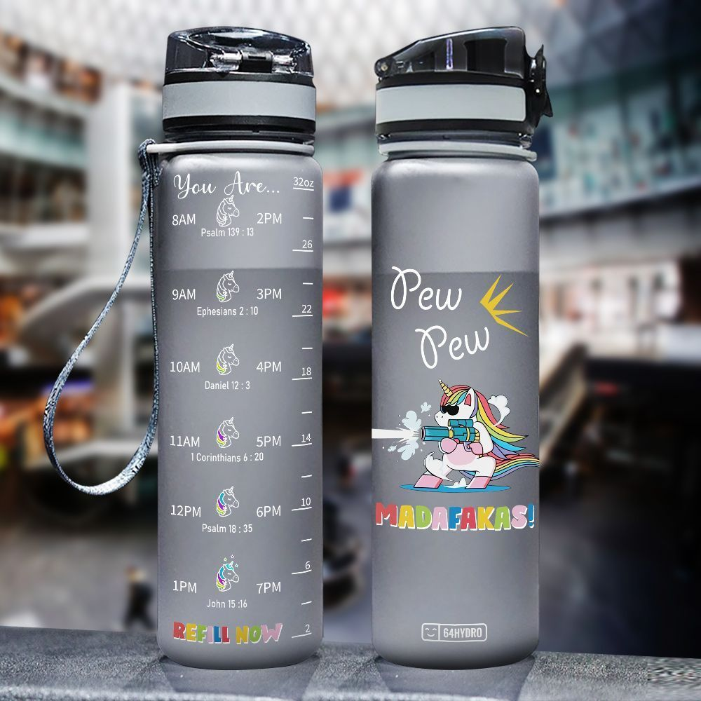 Unicorn HHA2907035 Black Water Tracker Bottle