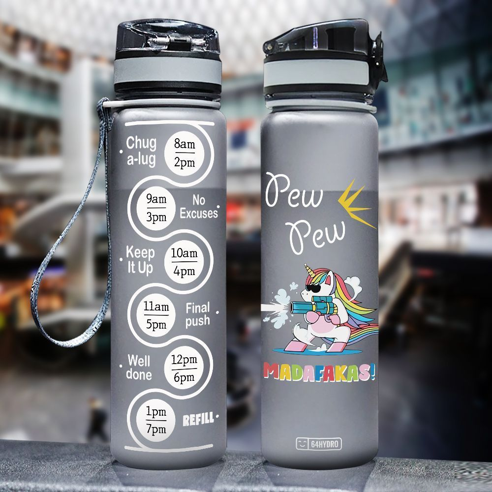 Unicorn HHA2907037 Black Water Tracker Bottle