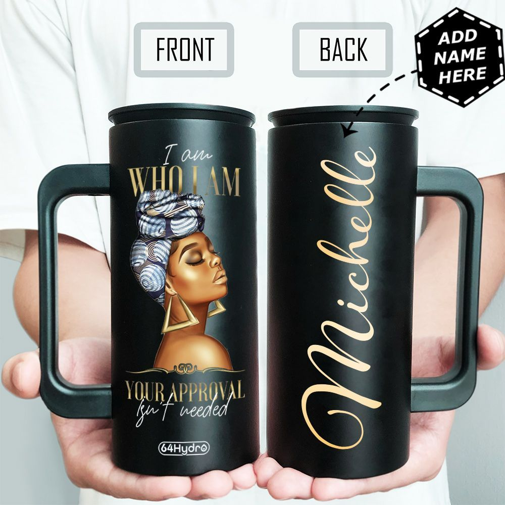 Black Women Personalized HHA1509005 12oz Stainless Steel Insulated Tumbler