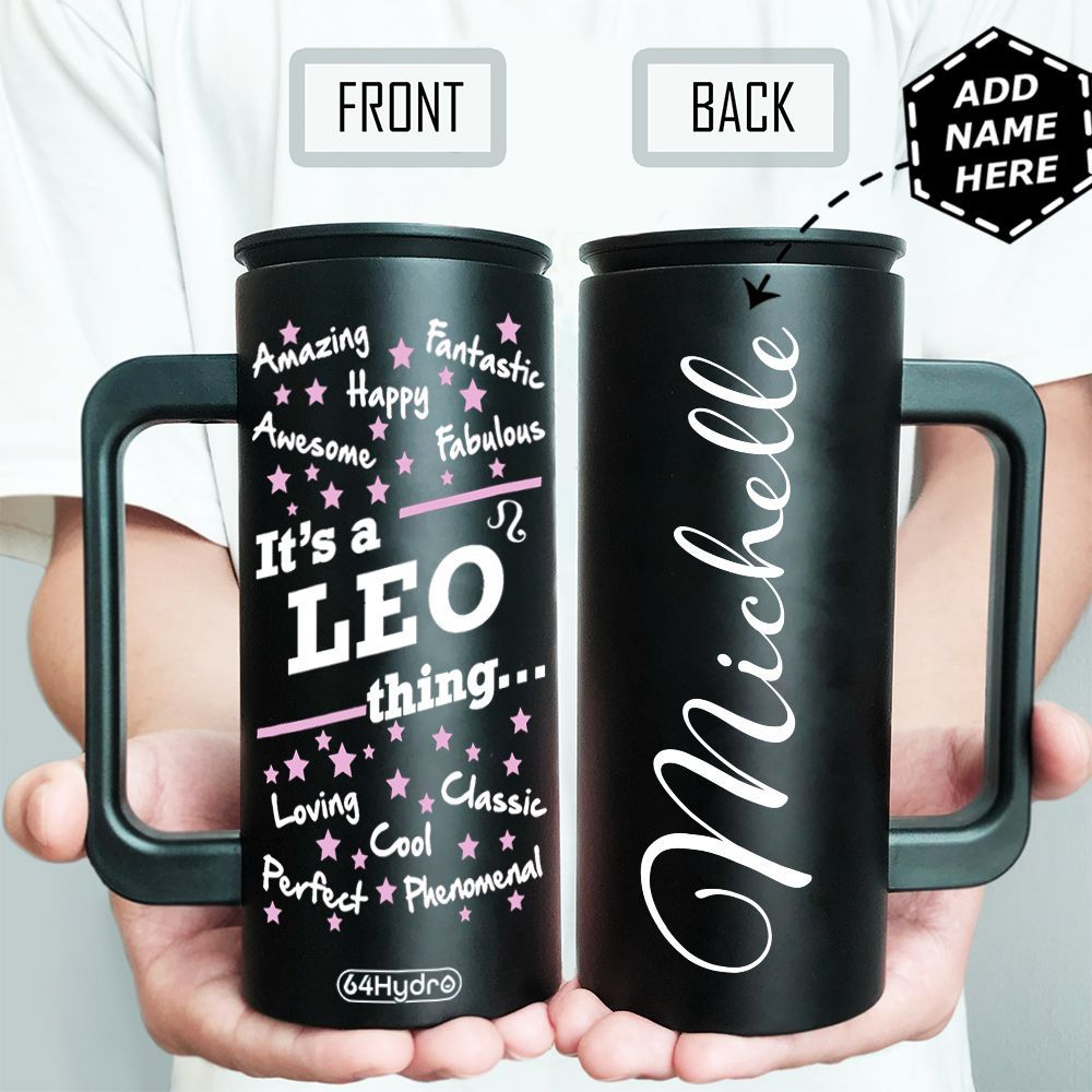 Leo Personalized HHA1609021 12oz Stainless Steel Insulated Tumbler