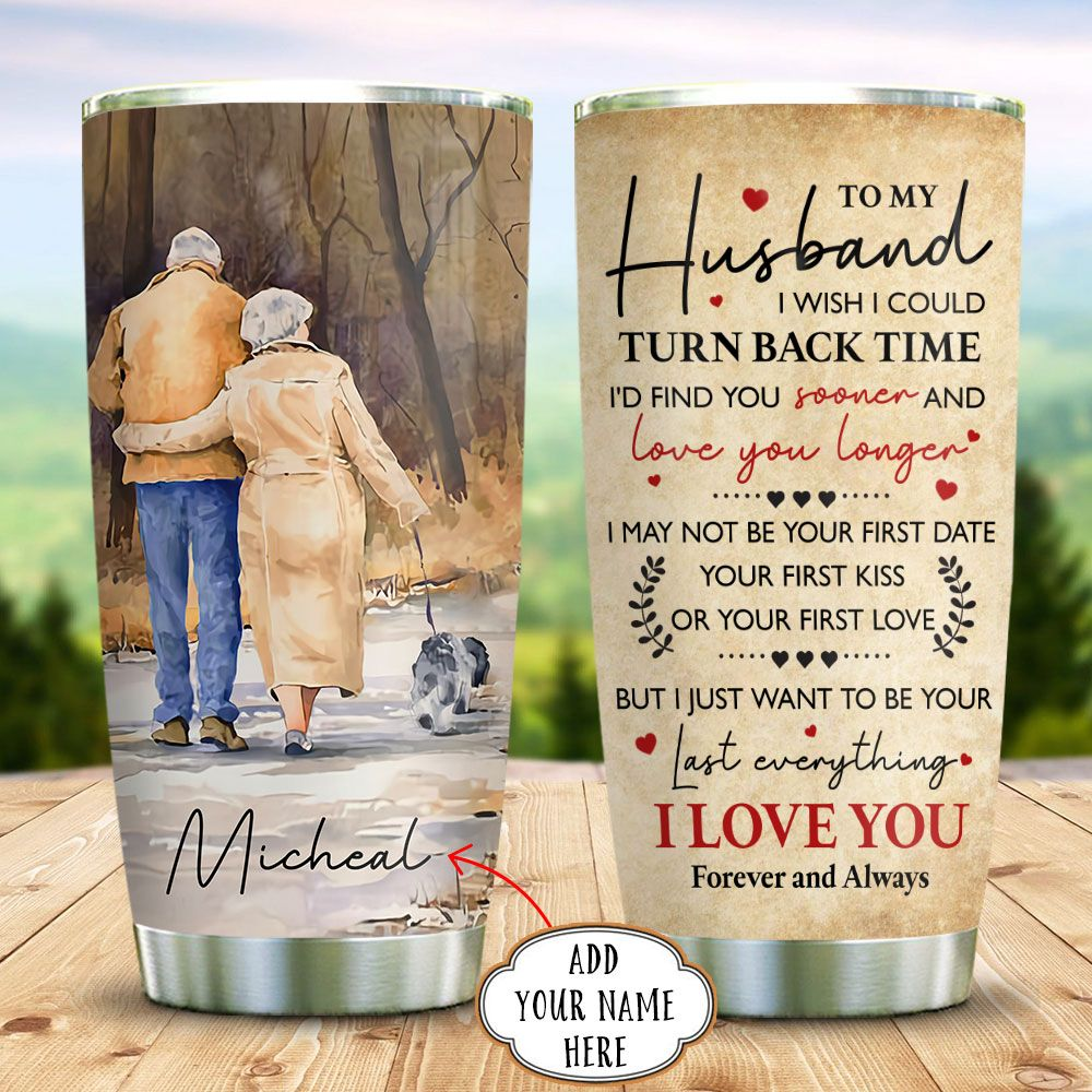 Old Couple Dog Personalized KD2 BGX0511007 Stainless Steel Tumbler