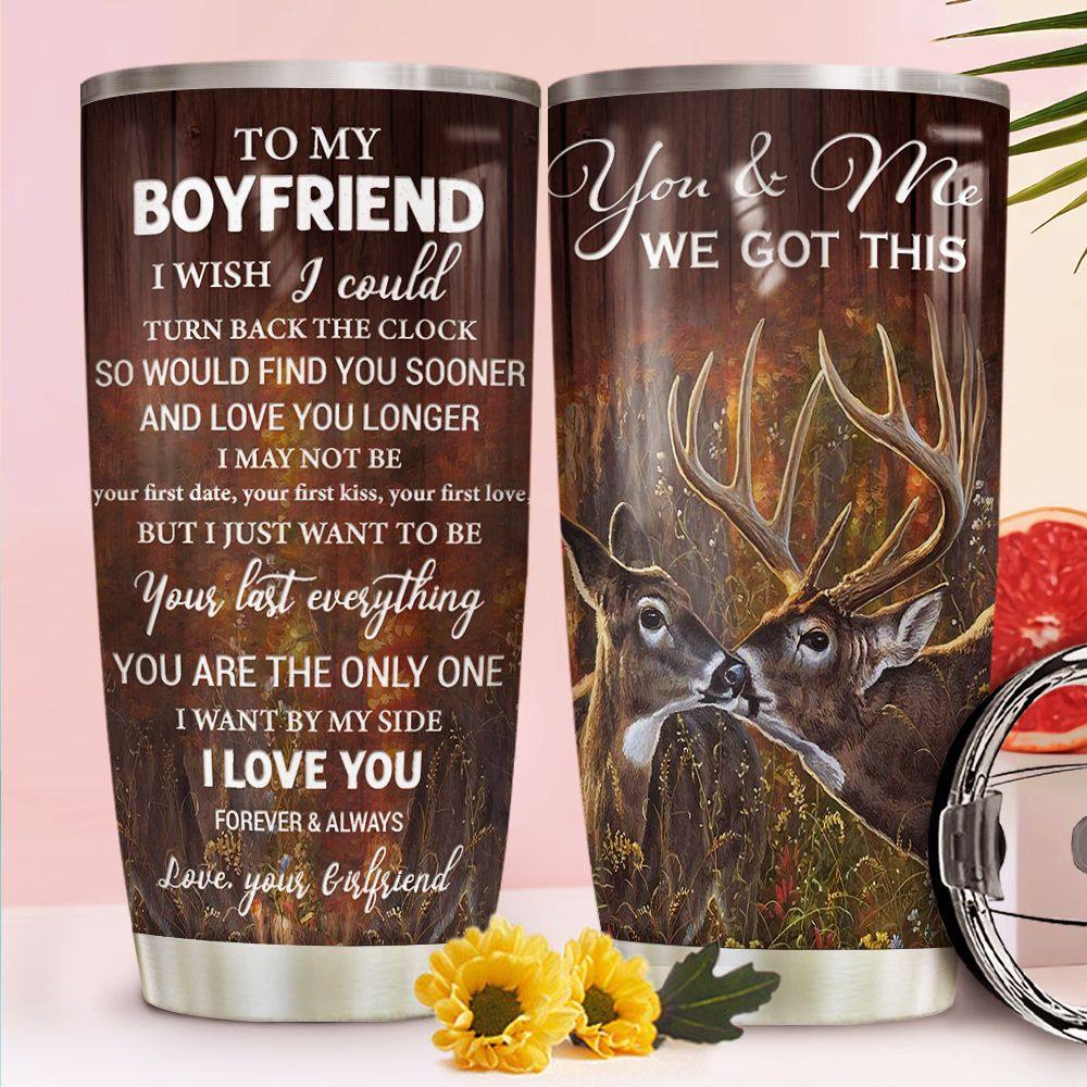 Deer Couple To Boyfriend DNR1111005 Stainless Steel Tumbler