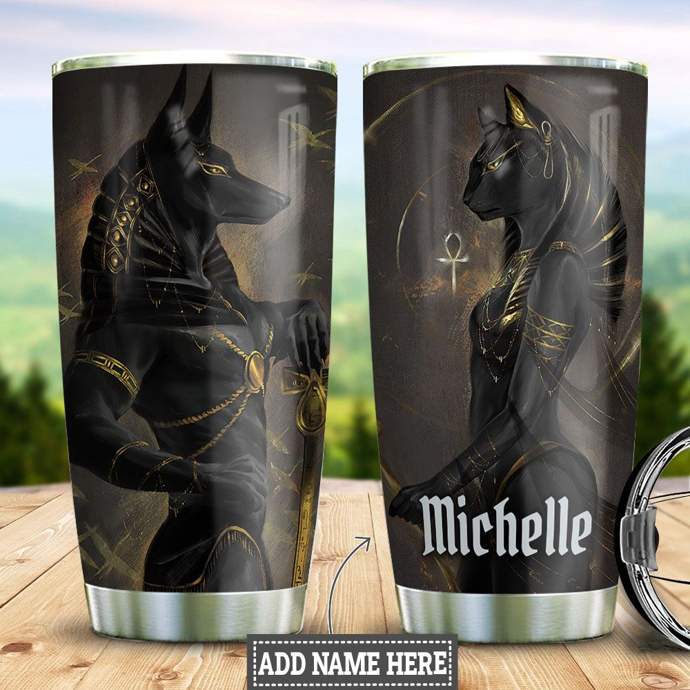 Personalized Pharaoh Couple HHZ2411022 Stainless Steel Tumbler