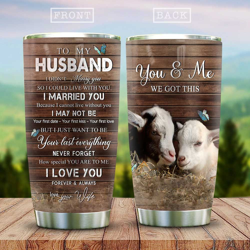 Goat Couple My Husband KD2 HAL3011003 Stainless Steel Tumbler