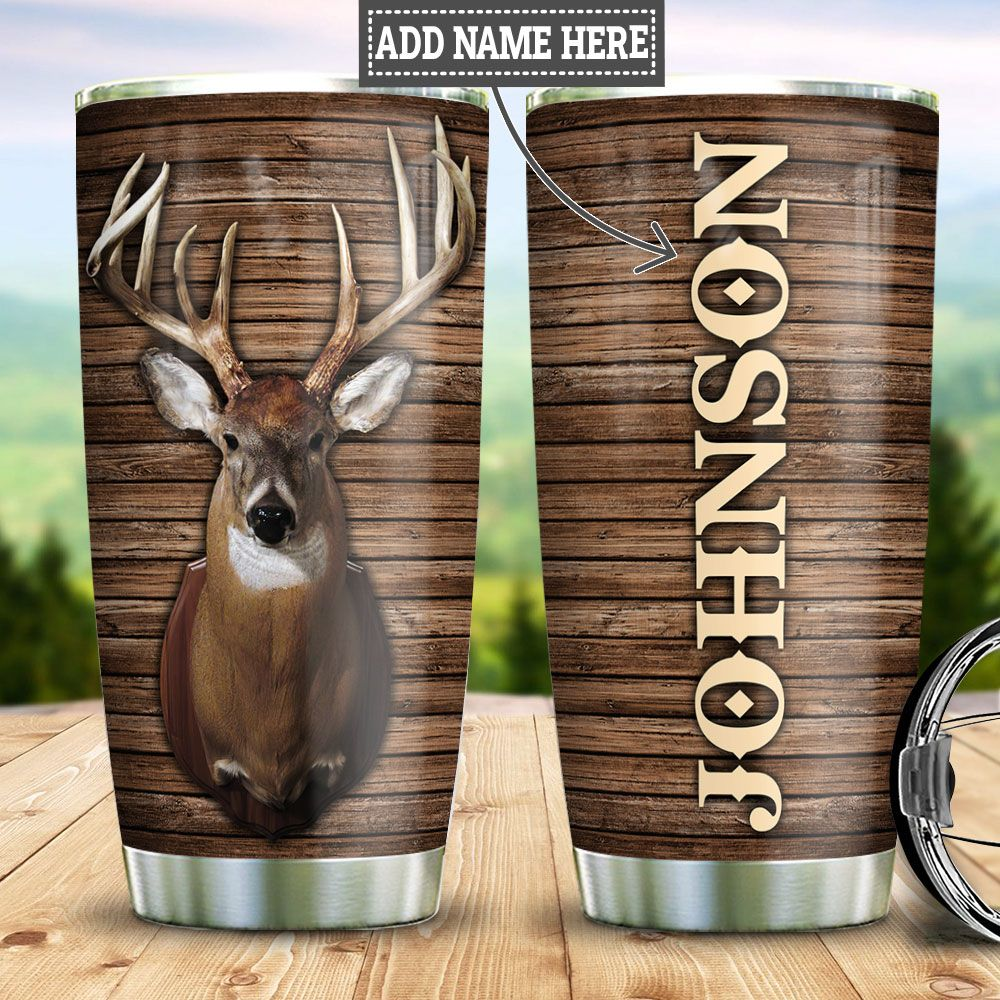 Personalized Deer Head Hunting HLZ3011004 Stainless Steel Tumbler