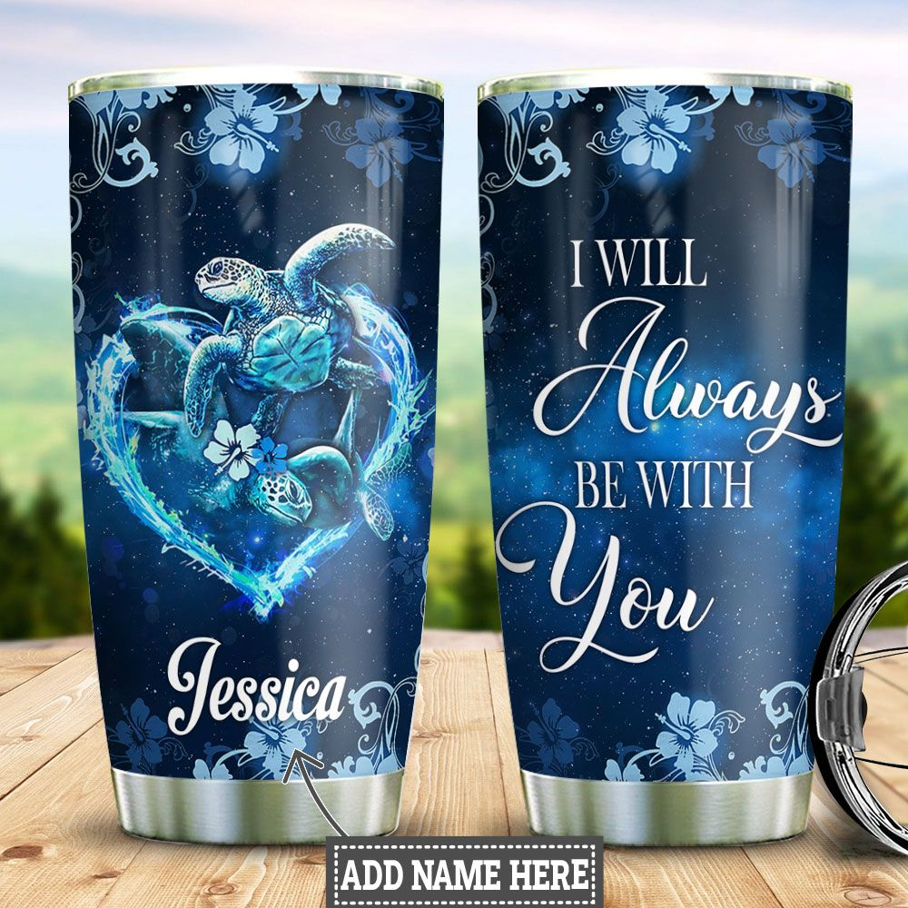 Personalized Turtle Couple HLZ0212019 Stainless Steel Tumbler