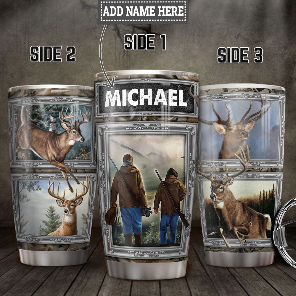 Personalized Deer Hunting Dad And Son HLZ0812010 Stainless Steel Tumbler