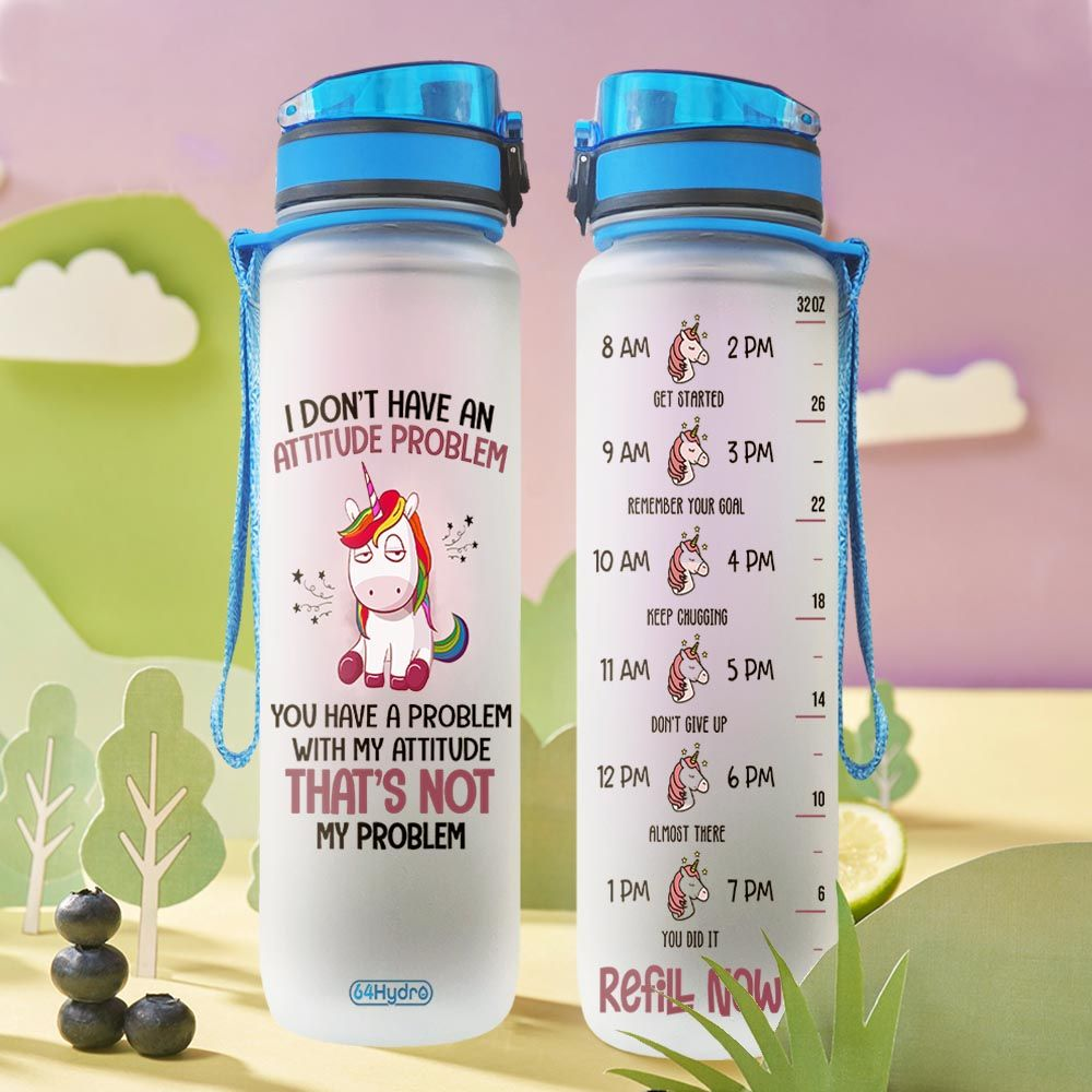 Unicorn THA1812015 Water Tracker Bottle