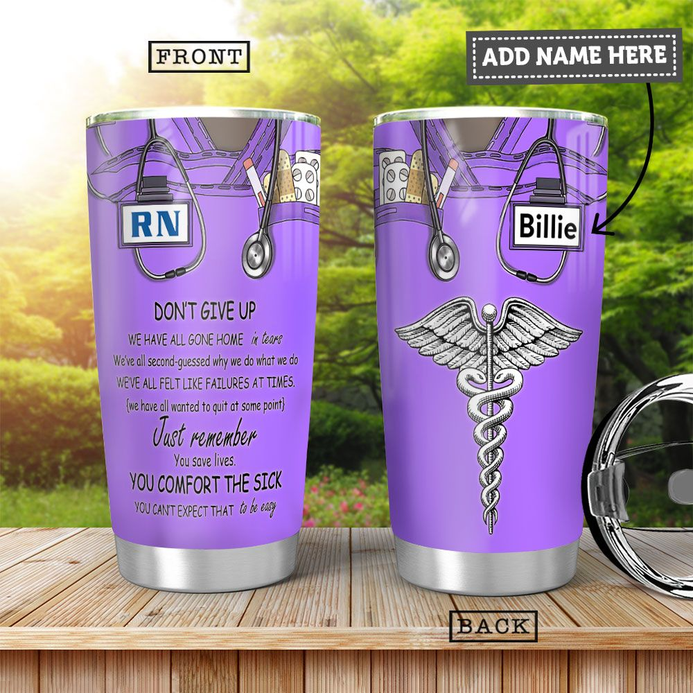 Nurse KD4 Personalized HHA0901007Z Stainless Steel Tumbler
