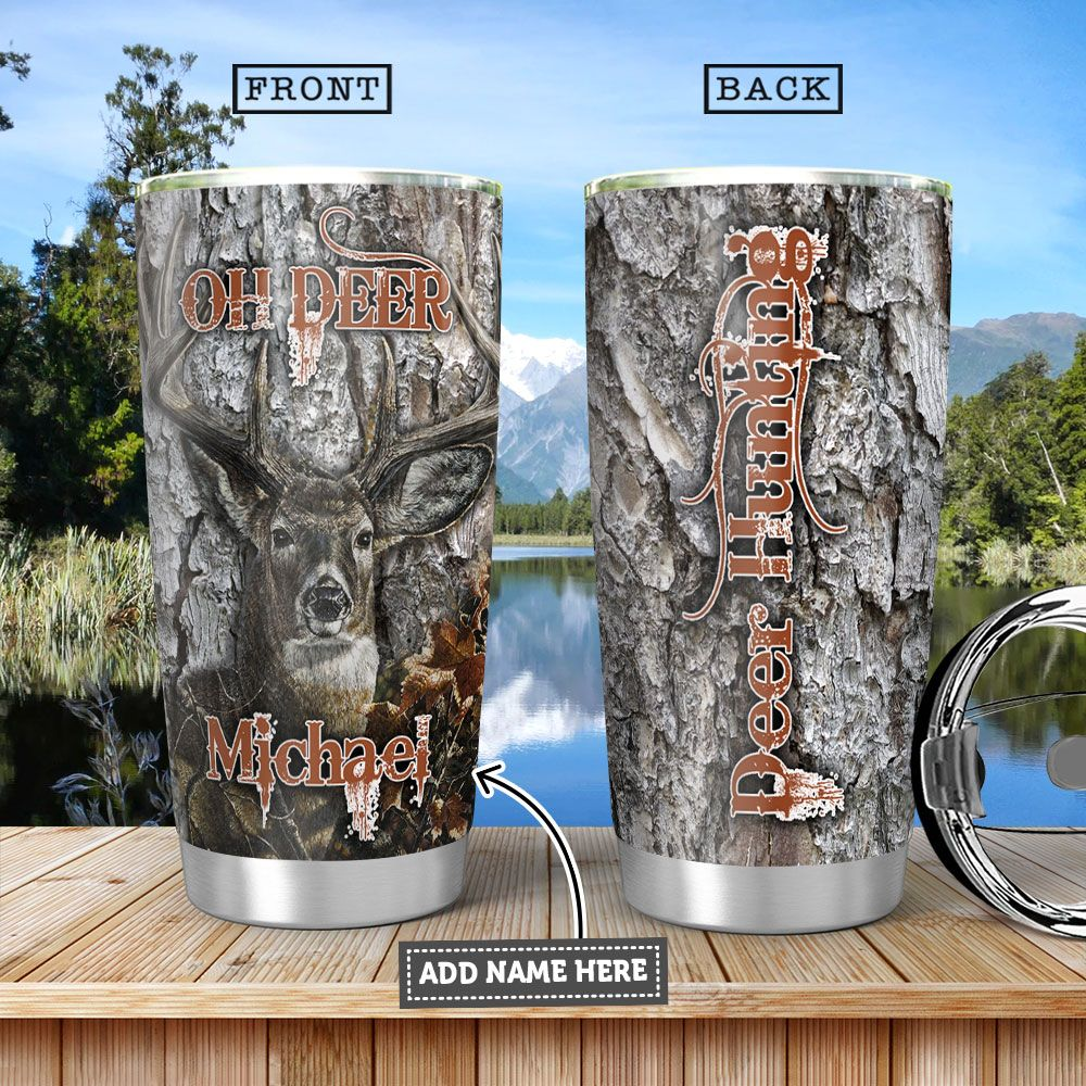 Deer Hunting Personalized HHA1101005Z Stainless Steel Tumbler
