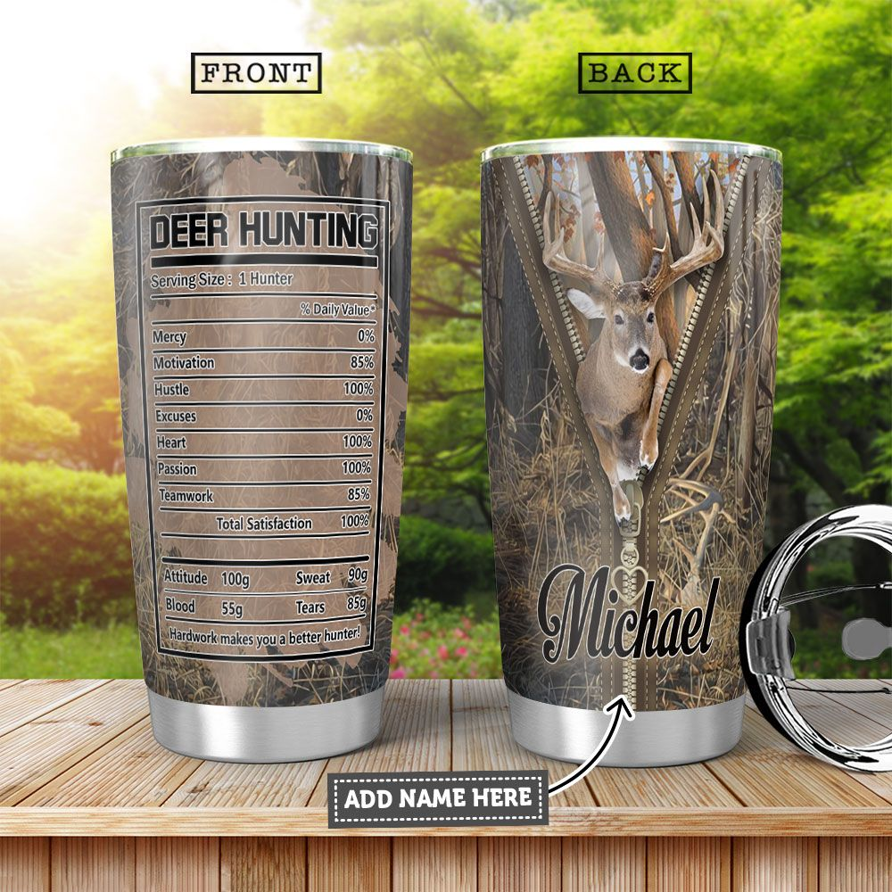 Deer Hunting Personalized KD4 HHA1201006Z Stainless Steel Tumbler