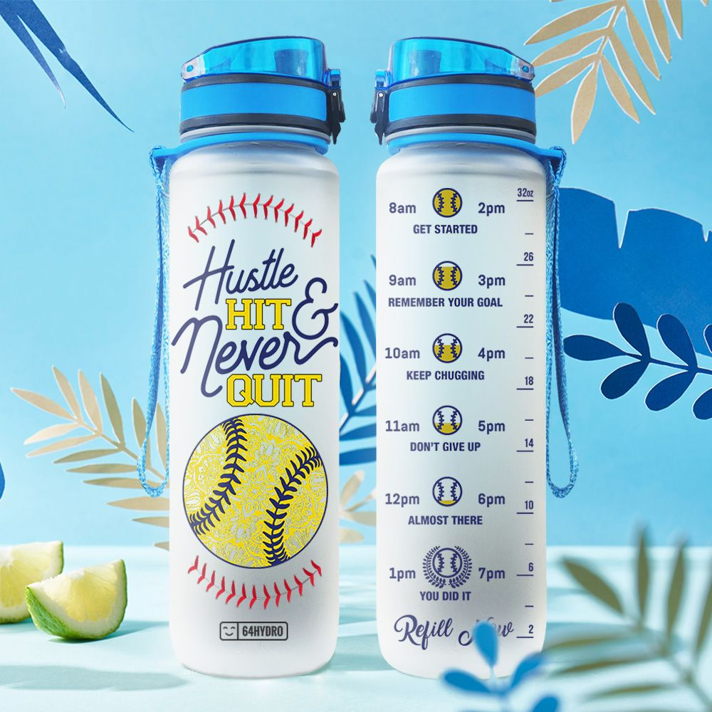Softball HHA0707011 Water Tracker Bottle