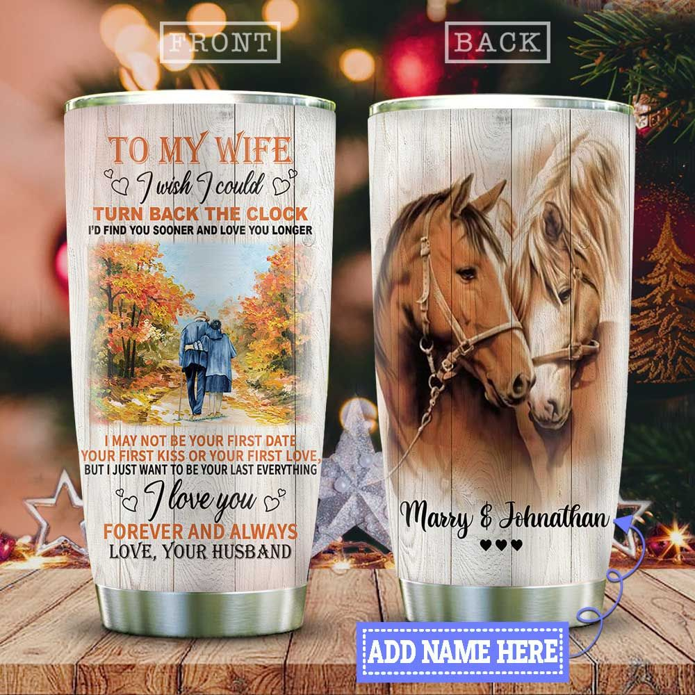 Horses Couple Personalized KD2 HAL2110008 Stainless Steel Tumbler