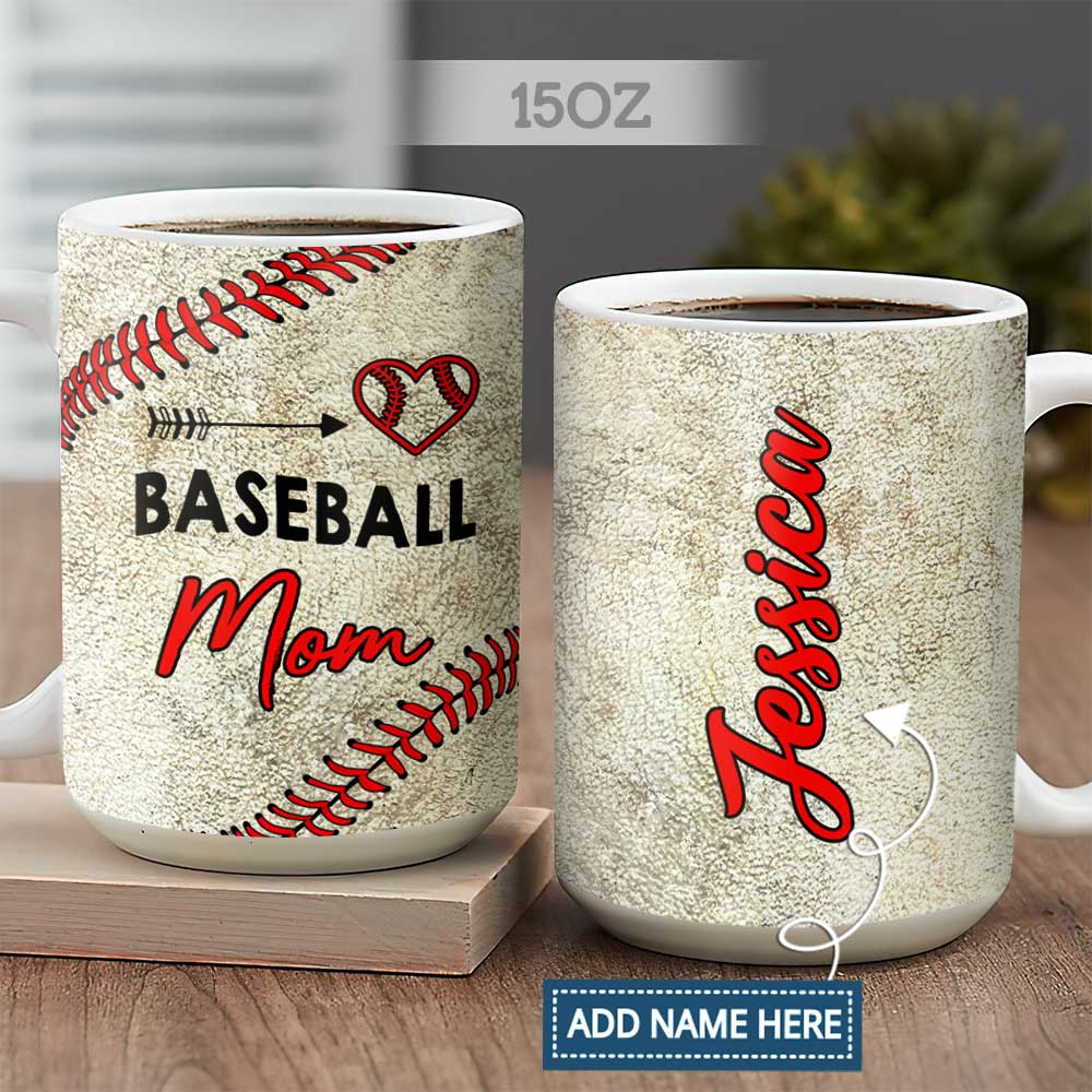 Personalized Baseball Mom ACAA2604004Z Full Color Ceramic Mug