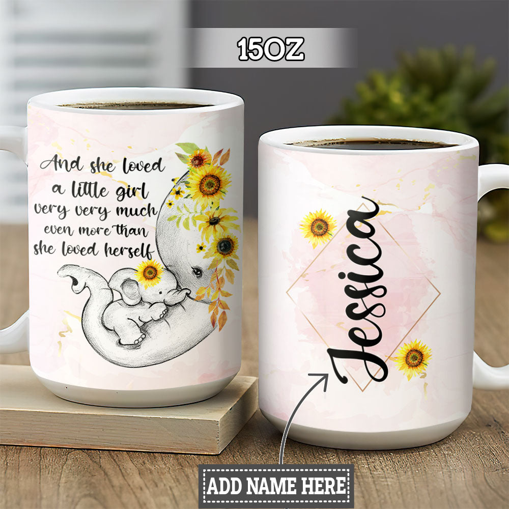 Personalized Elephant Mom TTZZ0405003Z Full Color Ceramic Mug