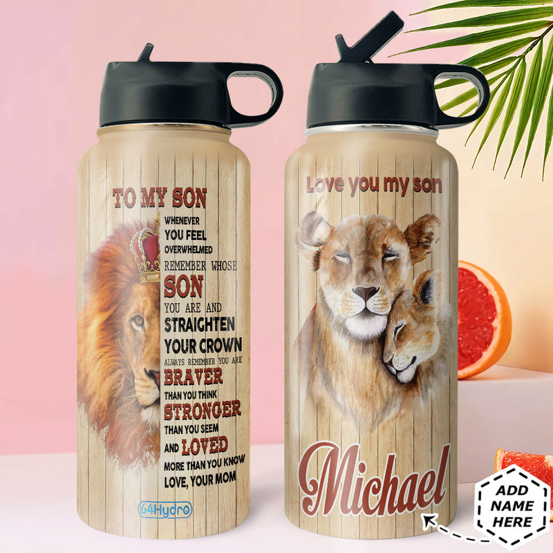 Gift for him Personalized gift Steel Water Bottle I believe you can fly Personalized water bottle. The sky is your limit
