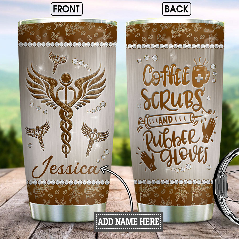 Personalized Nurse Coffee Jewelry Style BGM0603013Z Stainless Steel Tumbler