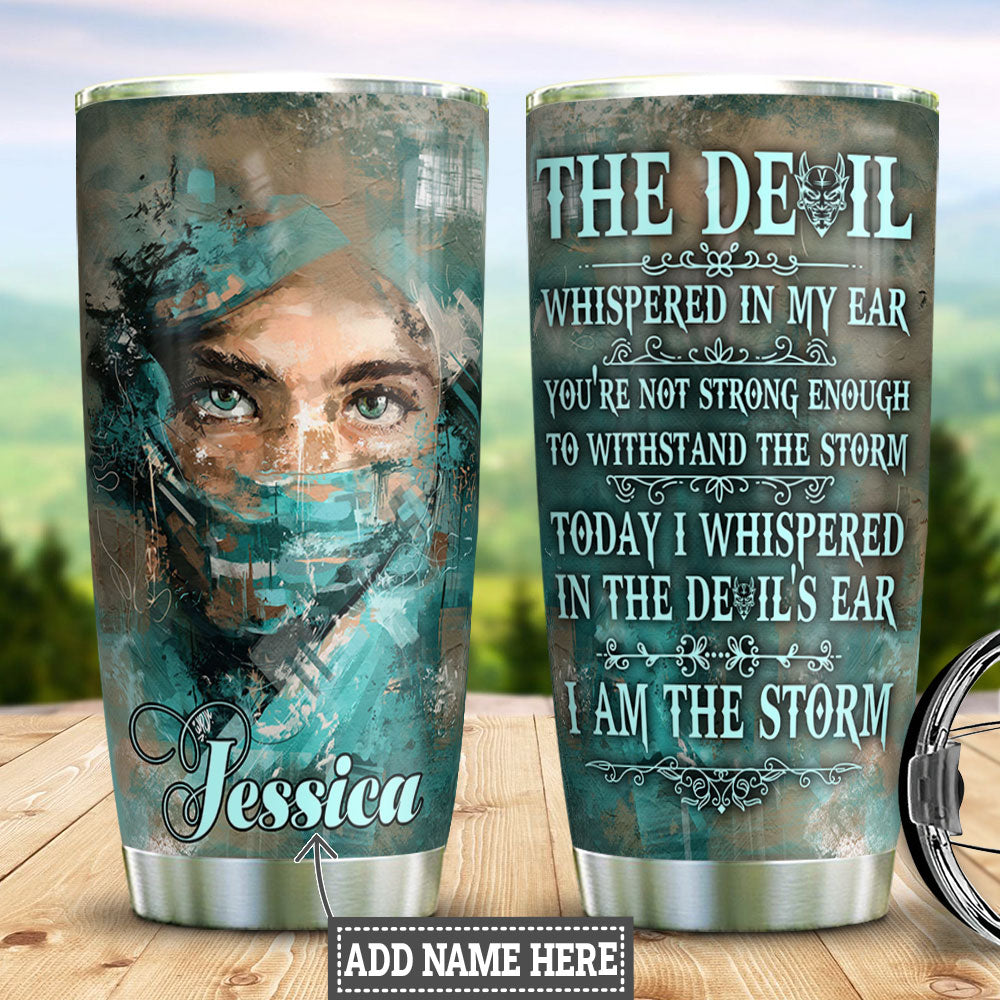 Personalized Nurse Storm HLZ2811021 Stainless Steel Tumbler