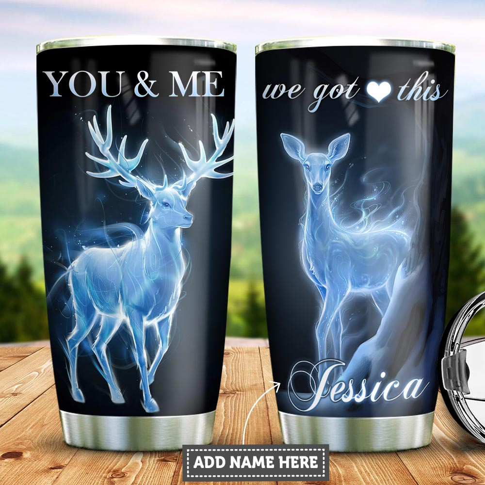 Personalized Deer Couple PYZ1112004 Stainless Steel Tumbler