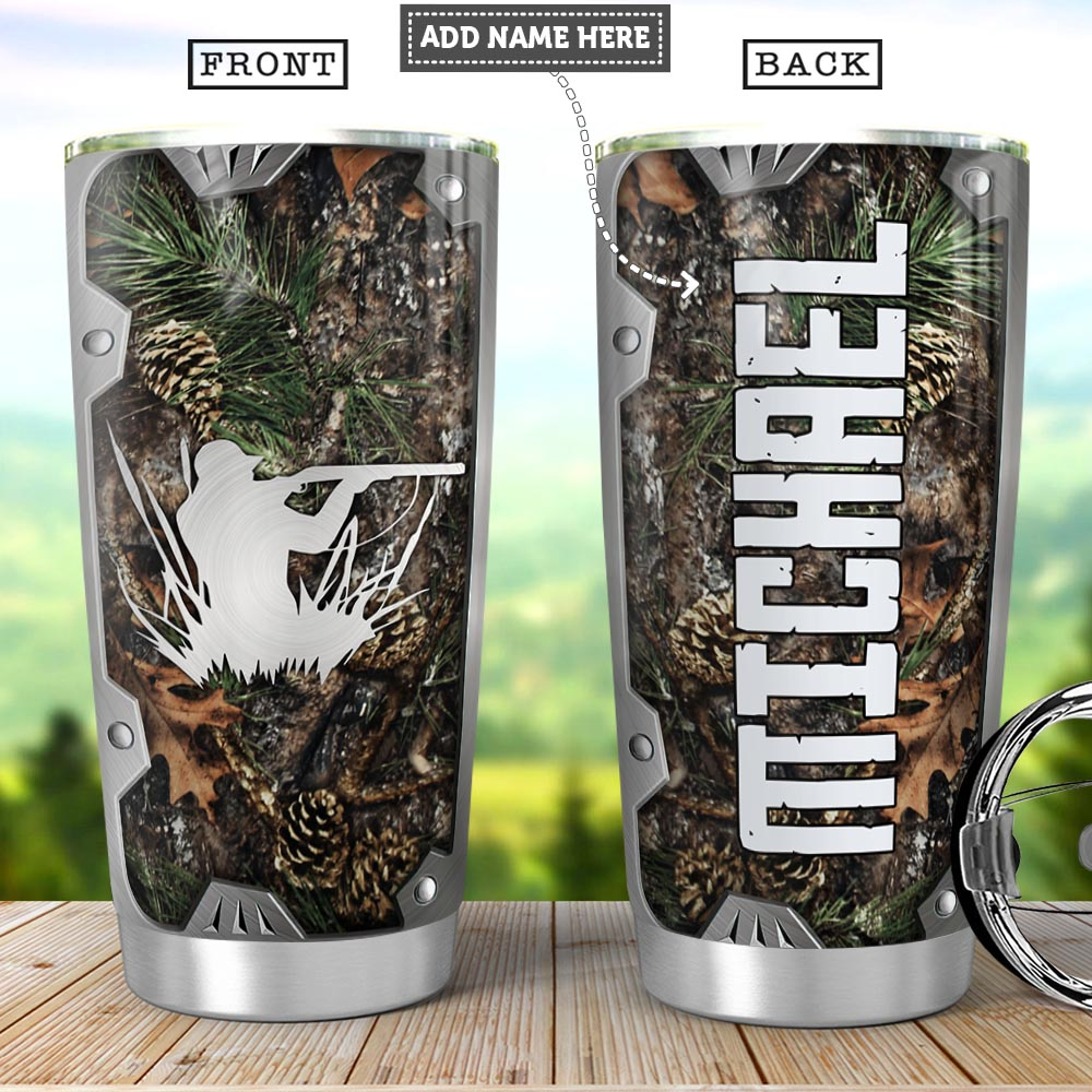 Personalized Hunting Metal Style PYZ1212013 Stainless Steel Tumbler