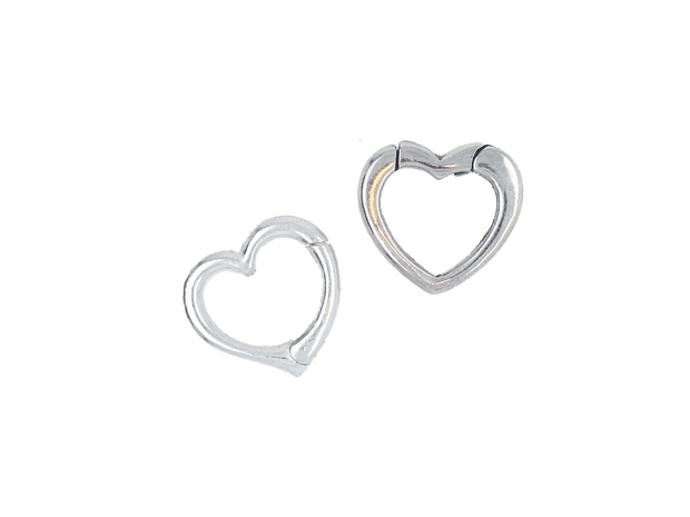 Silver Heart Closures